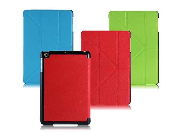 Unique stand leather case for iPad mini 2