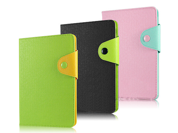 Folio stand leather case for iPad mini 2