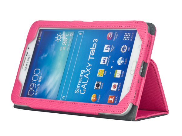 Folio stand leather case for Samsung Galaxy Tab 3 7.0