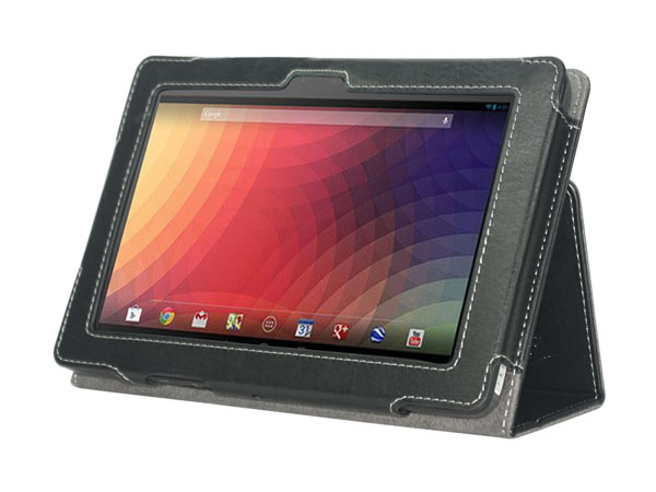 Folio stand leather case for Google Nexus 10