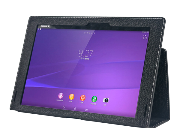 Leather smart case for Sony Z2 Table