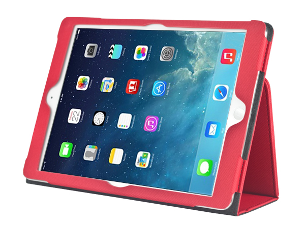 Book style PU leather case for iPad air 2