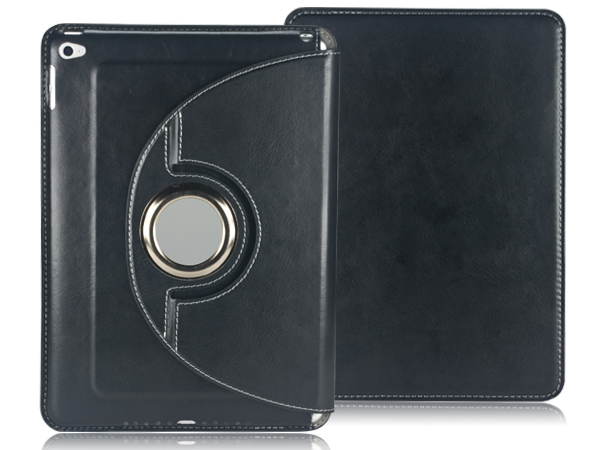 360 degree Rotatable stand leather case for iPad Air 2