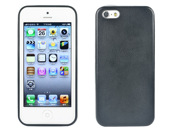 PU leather cover shock absorbent TPU armor bumberfor iPhone 5/5S